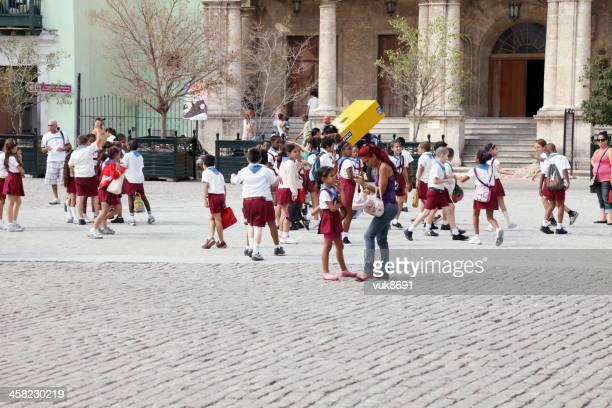Schoolchildren having fun