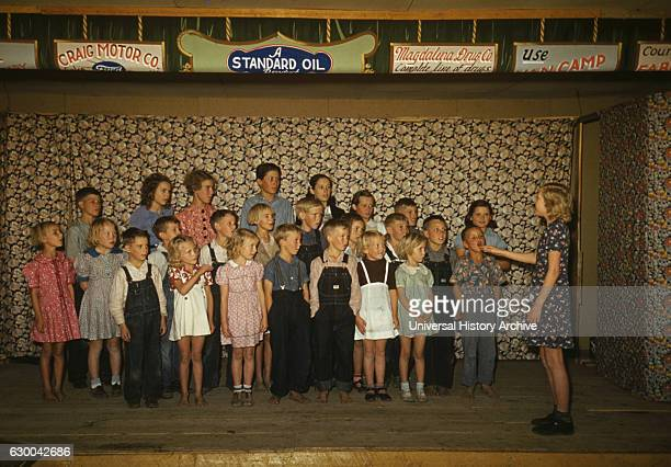 Schoolchildren Singing Pie Town New Mexico USA Russell Lee October 1940