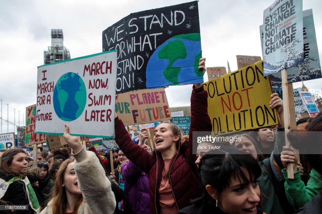 UK Students Strike Against Climate Change : News Photo
