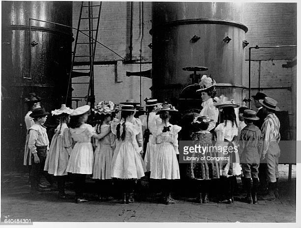 Schoolchildren Visiting a Brewery