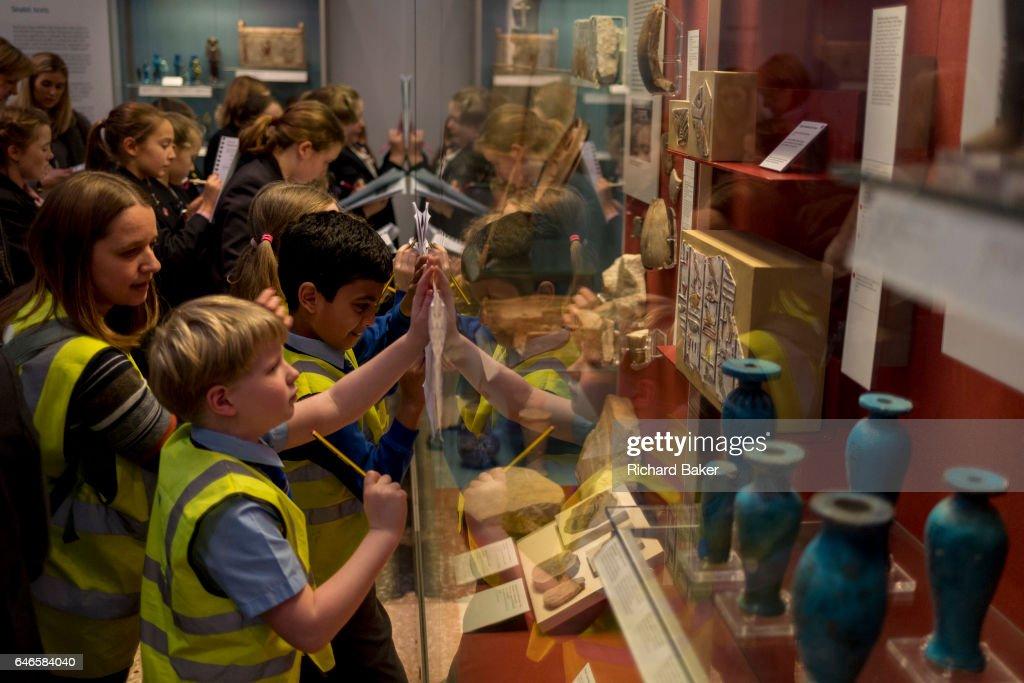 Schoolchildren Project In The British Museum : News Photo