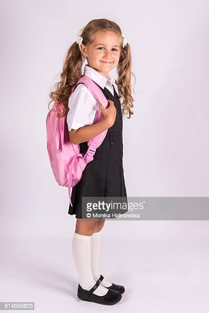 Schoolgirl with schoolbag