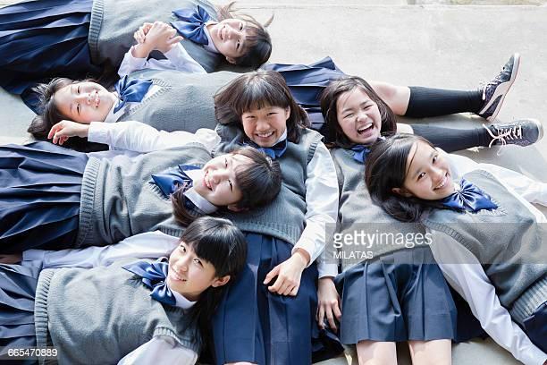 Schoolgirls of sleep Japanese