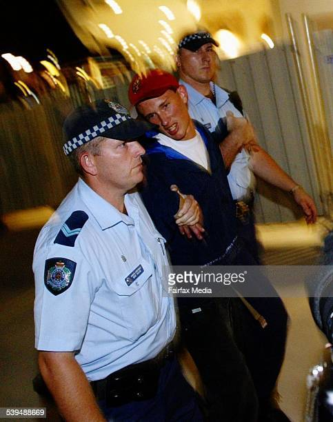 Schoolies Week hits the Gold Coast with students arriving for the famous annual holiday in Queensland A schoolie is led away by police after acting...