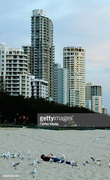 Schoolies Week hits the Gold Coast with students arriving for the famous annual holiday in Queensland Early morning on Main Beach as the sun rises...