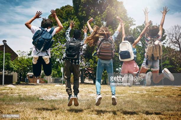 school's out! - school children stock pictures, royalty-free photos & images