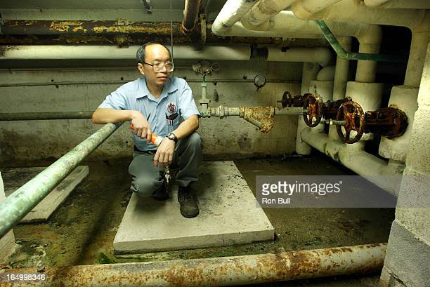 Schools RB04 03/18/04 Toronto School board schools in need of maintenance repairs At Duke of Connaught PS Cheung Lam head caretaker in schools boiler...