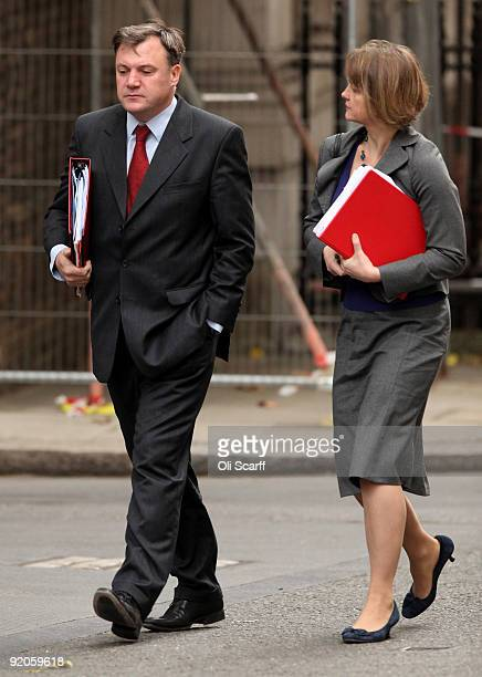 Schools Secretary Ed Balls and his wife Yvette Cooper the Secretary of State for Work and Pensions arrive in Downing Street for the weekly Cabinet...