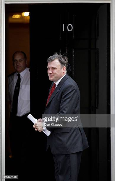 Schools Secretary Ed Balls arrives at Downing Street on May 11 2010 in London England British Prime Minister Gordon Brown has announced that he is to...