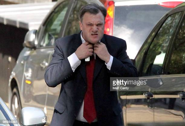 Schools secretary Ed Balls arrives at the rear entrance of Downing Street on May 10 2010 in London England With all the election results now counted...
