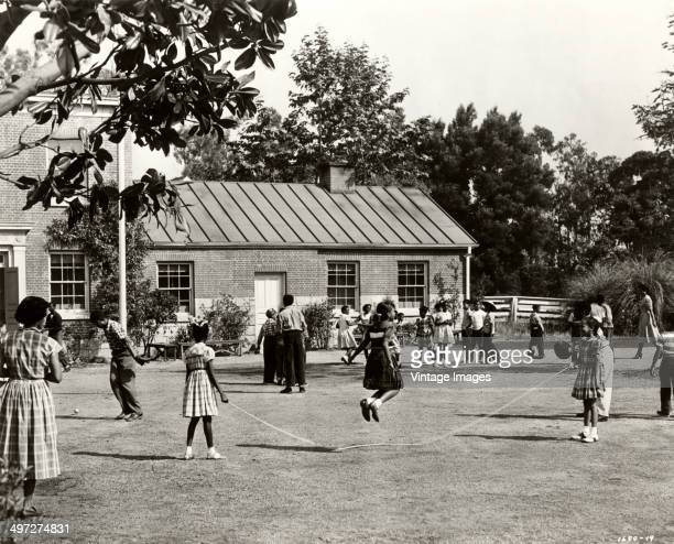 A schoolyard scene from the film 'Bright Road' based on the short story 'See How They Run' by Mary Elizabeth Vroman 1953