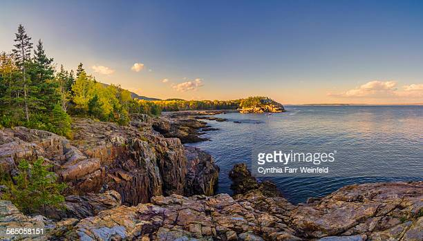 schooner head panorama, acadia national park - メイン州 ストックフォトと画像