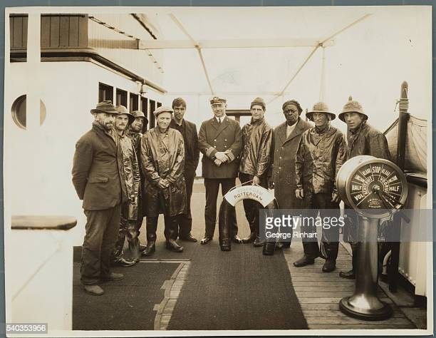 Schooner Horatio goes down four hundred miles off Bermuda survivors carry on until Volendam appears brings them to port Nine men who were not on the...
