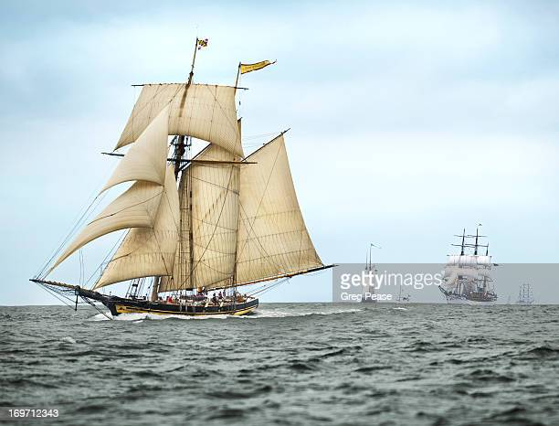schooner pride of baltimore ii - ship stock pictures, royalty-free photos & images