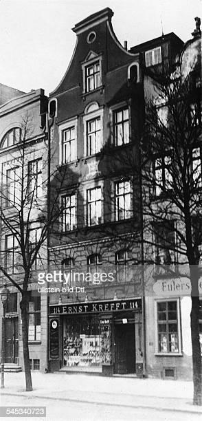 Schopenhauer Arthur *2202178821091860Philosoph D Geburtshaus in der HeiligGeistStrasse in Danzig Aussenansicht 1927