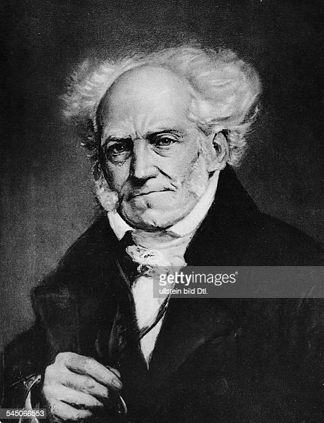 Schopenhauer Arthur *2202178821091860Philosoph D Portrait nach einem Gemaelde von J Lunteschuetz 1850
