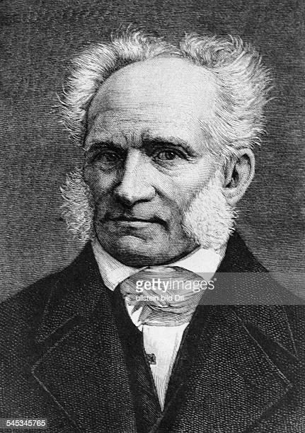 Schopenhauer Arthur *2202178821091860Philosoph D Portrait nach einem Stich undatiert