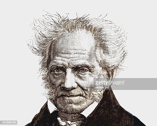 Schopenhauer Arthur *2202178821091860Philosoph D Portrait Zeichnung undatiert