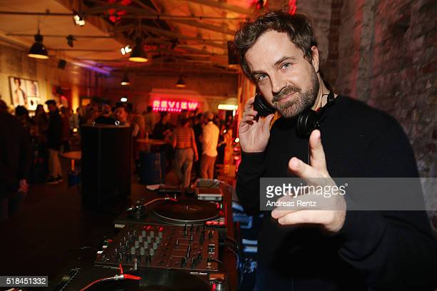 Schowi performs during the REVIEW by Sami Slimani Capsule Collection launch party on March 31 2016 in Duesseldorf Germany