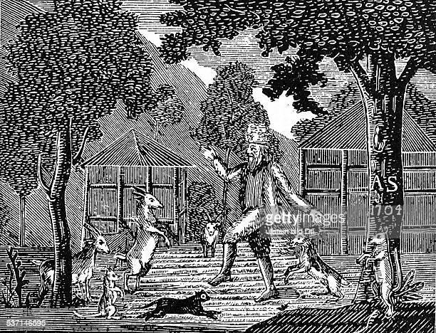 1660 1731 Schriftsteller England zeitgenössische Darstellung des Alexander Selirk einem schottischen Matrosen der wegen einem Streit mit seinem...