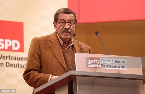 Schriftsteller Günter Grass während einer Wahlkampfveranstaltung der SPD in Berlin
