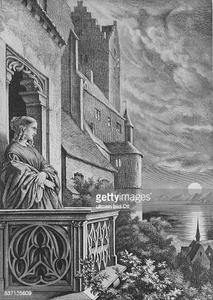 *1001179724051848 Schriftstellerin Deutschland Porträt auf dem Balkon des Alten Schlosses in Meersburg mit Blick auf den Bodensee nach einer...