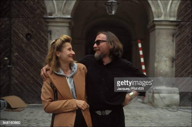 Schroeter's scriptwriter Elfriede Jelinek with Werner Schroeter
