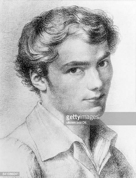 Schubert Franz31011797 19111828Komponist AZeichnung um 1813