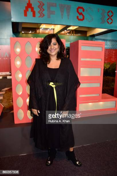 Schulen Fernandes Creative Director of designer Wendell Rodricks' eponymous label at the Fashion Design Council of India's 30th edition of India...