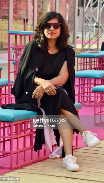 Schulen Fernandes Creative Director of Wendell Rodricks' label at the Fashion Design Council of India's 30th edition of India Fashion Week Spring...