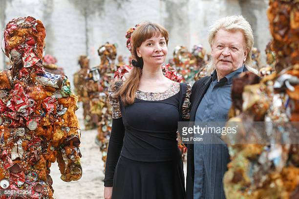 Schult and his wife Anna Zlotovskaya during the 'Trash People goes Berlin' Exhibition Artist HA Schult presents 'Trash People goes Berlin' at the...