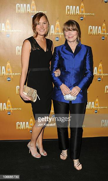 Schuyler Fisk and Sissy Spacek attend the 44th Annual CMA Awards at the Bridgestone Arena on November 10 2010 in Nashville Tennessee