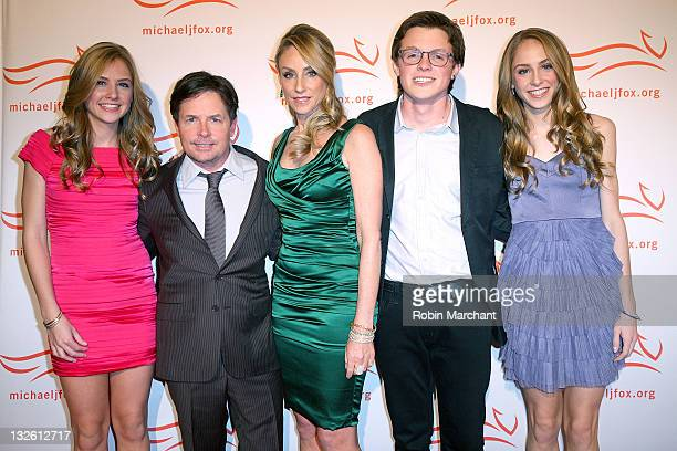 Schuyler Fox Actor Michael J Fox and his wife Tracy Pollan Sam Fox and Aquinnah Fox at the 2011 A Funny Thing Happened On The Way To Cure Parkinson's...