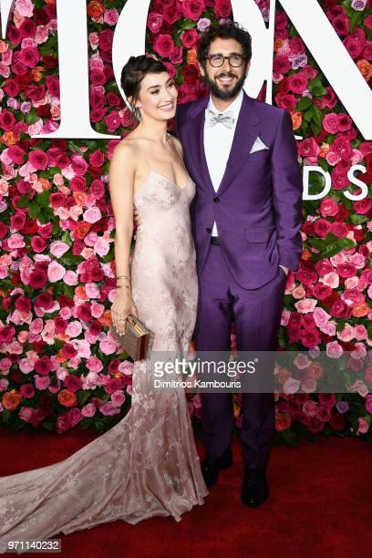 Schuyler Helford and Josh Groban attend the 72nd Annual Tony Awards at Radio City Music Hall on June 10 2018 in New York City