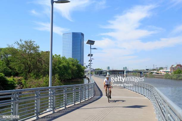 Schuylkill River Trail Park and Boardwalk Philadelphia Pennsylvania USA