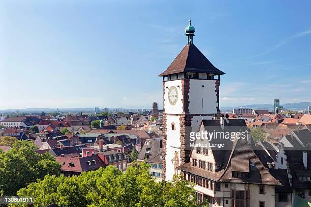 Schwabentor tower, Freiburg im Breisgau, Baden-Wuerttemberg, Germany, Europe