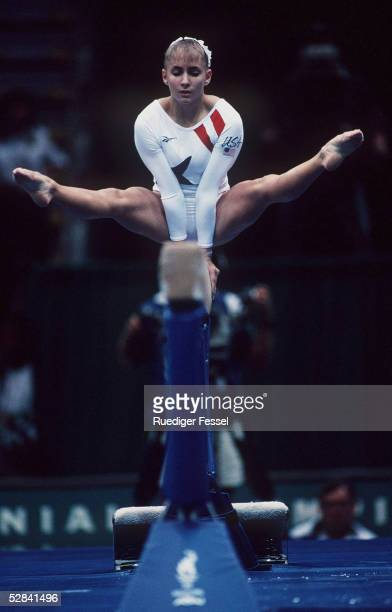 Schwebebalken/Frauen ATLANTA 1996 29.7.96, Shannon MILLER/USA gewinnt die GOLD - MEDAILLE