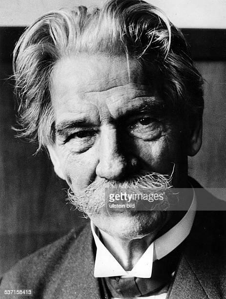 Schweitzer Albert Arzt Theologe Frankreich Aufnahme Fritz Eschen 1955