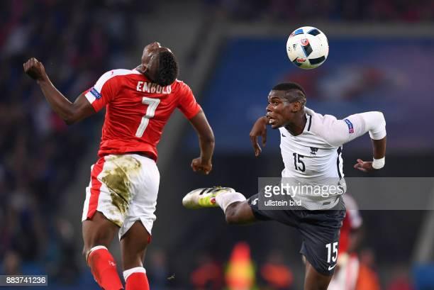 FUSSBALL Schweiz Frankreich Breel Embolo gegen Paul Pogba