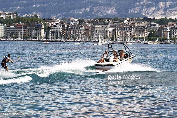 Wasserski in der Genfer Bucht