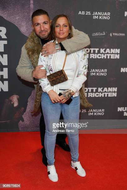 Schwesta Ewa attends the 'Nur Gott kann mich richten' premiere at CineStar Metropolis on January 22 2018 in Frankfurt am Main Germany