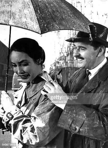 Schwiers Ellen Actress Germany * Scene from the movie 'Skandal um Dr Vlimmen' with Bernhard Wicki Directed by Arthur Maria Rabenalt West Germany 1956...