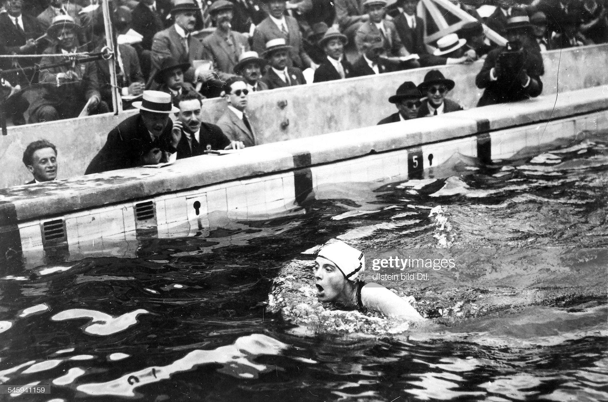 Oly 1924 Paris Schwimmen : Fotografía de noticias
