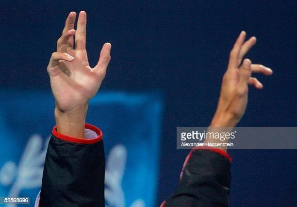 Schwimmen Olympische Spiele Athen 2004 Athen Schmetterling 200m / Maenner Michael PHELPS / USA gewinnt die Goldmedaille 170804