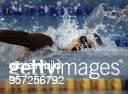 Schwimmerin D Olympische Spiele in Barcelona mit aufgerissenem Mund beim Kraulen