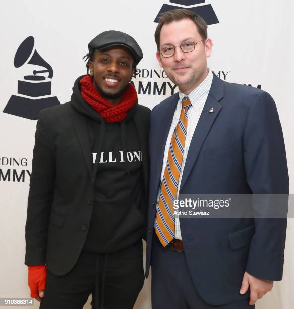 Schyler O'Neal and Michael Sticka pose for a photo together at the GRAMMY Museum®'s ninth annual GRAMMY In The Schools® Live A Celebration Of Music...