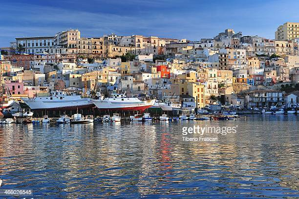 CONTENT] Sciacca cityscape from fishing harbor