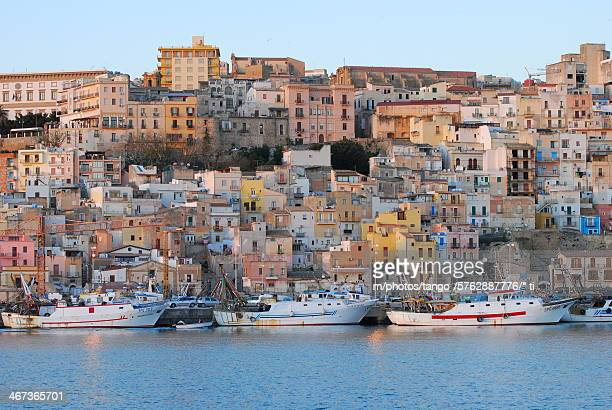 sciacca (view from fishermans docks (ag) - sicily - シチリア ストックフォトと画像