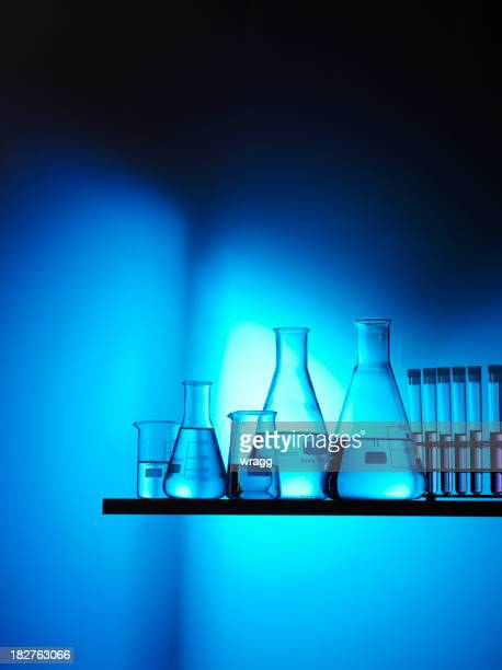 Science Beakers and Test Tubes for Research