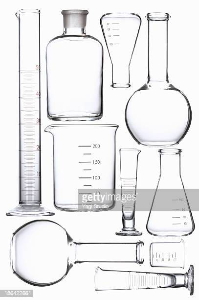 science beakers - laboratory equipment stock pictures, royalty-free photos & images